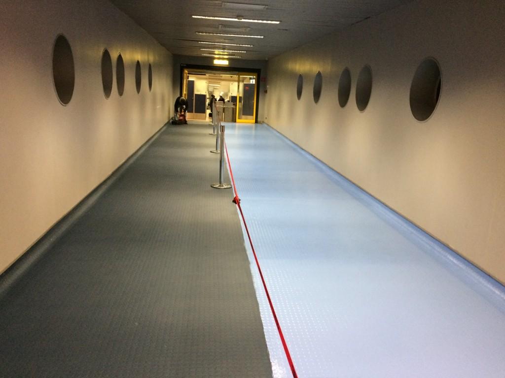 Flooring rubber + polyurethane